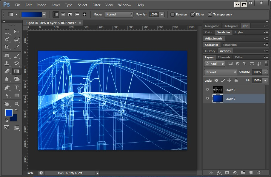 Vray Transparent Wire-frame